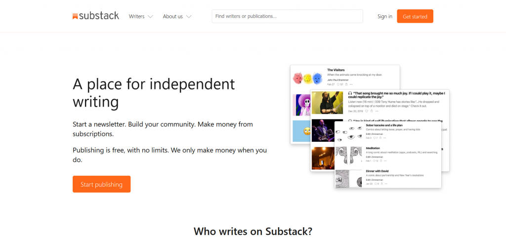 Substack start a Newsletter
