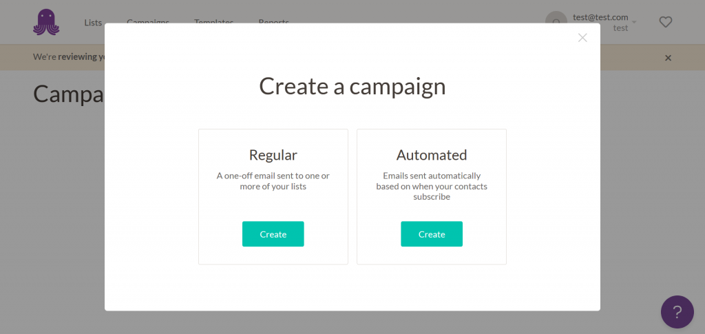 create a campaign -email octopus