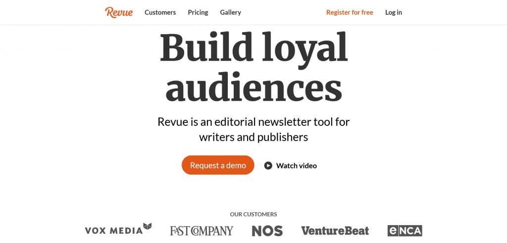revue start a newsletter tool