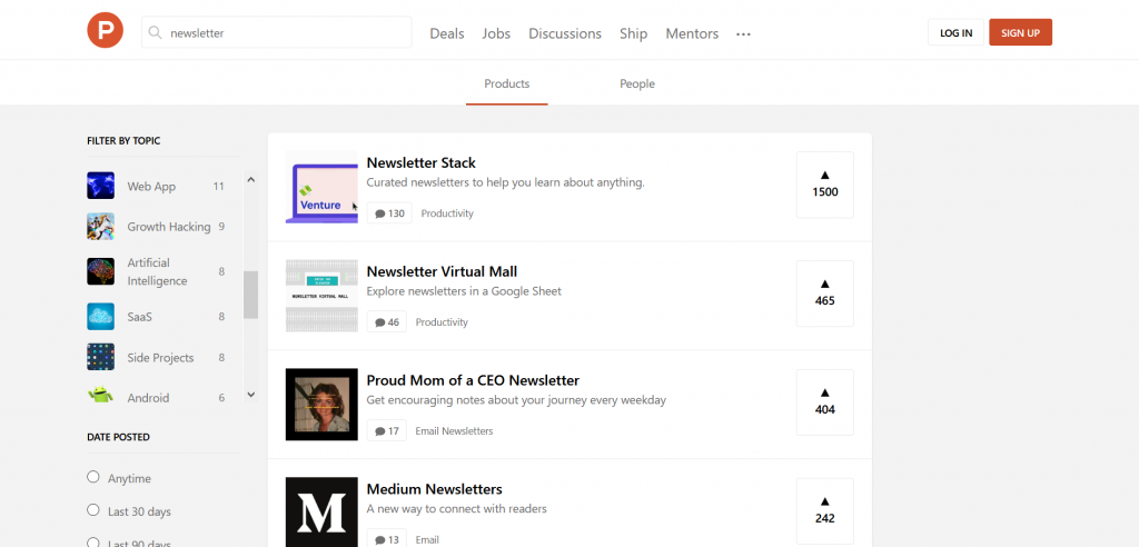 product hunt newsletter launch
